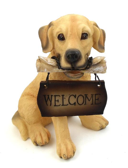 SMALL WELCOME DOG GOLDEN RETRIEVER
