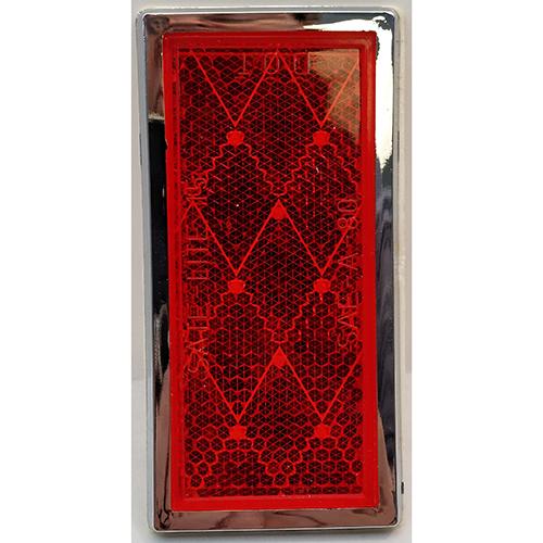 REFLECTOR, RED, RETANGULAR,3 1/2X 1 3/4