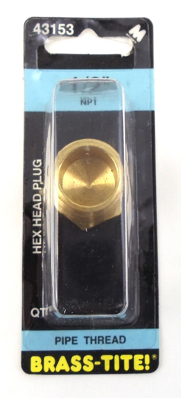 "1/2"" HEX HEAD PLUG (BRASS)"