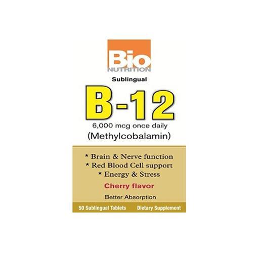 Bio Nutrition B12 Sublingual 6000 mcg (1x50 Tablets)