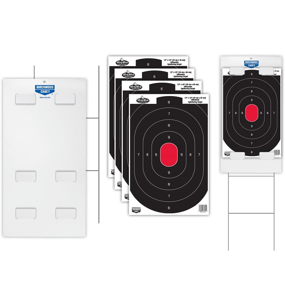 BC Sharpshooter Tab-Lock Dirty Bird Silhouette Target Kit