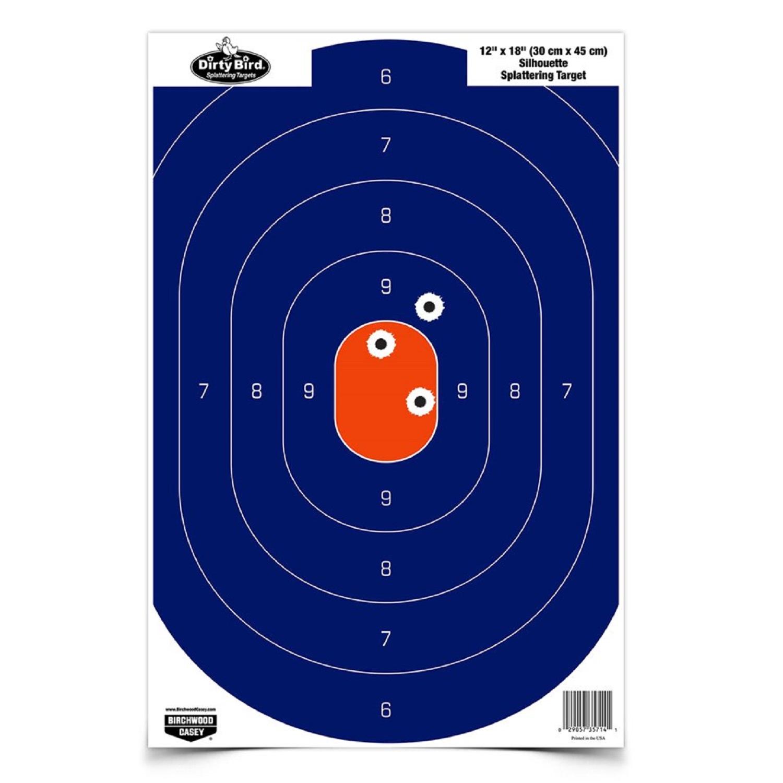 Birchwood Casey 12in x 18in Blue/Orange Silhoutte-50 Targets