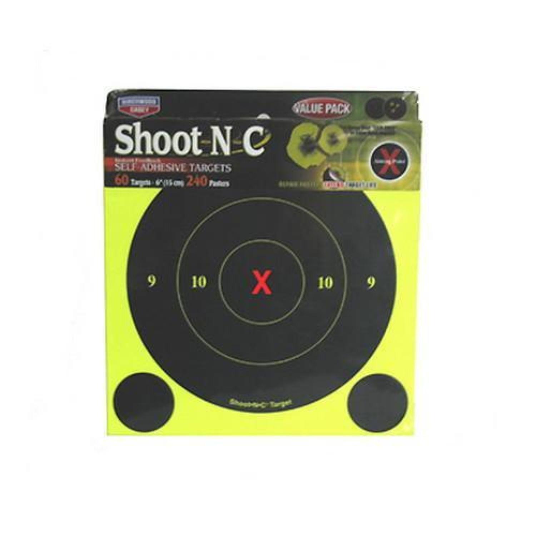 Birchwood Casey SNC 6 inch Round X Bull Targets 60 Pack
