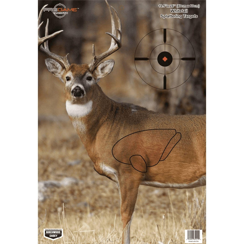 Birchwood Casey Pregame 16.5x24 Whitetail Target 3 Pack