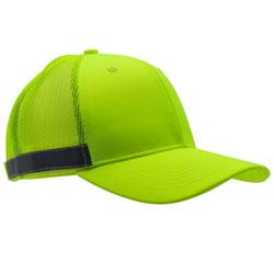 NON-RATED TRUCKER CAP/REFLCTVE TRIM/LIME