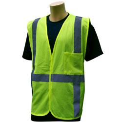 BCO SAFETY VEST/ CLASS 2/ VELCRO/ 2X/3X