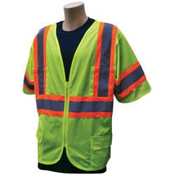 BCO SAFETY VEST/ CLASS 3/ ZIP/LM/ 2X/3X