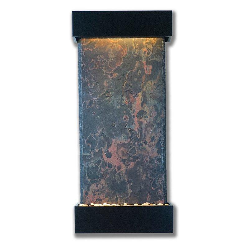 "Nojoqui Falls Large Fountain 57.5""H x 25.5""W Black Onyx w/NSI Slate"