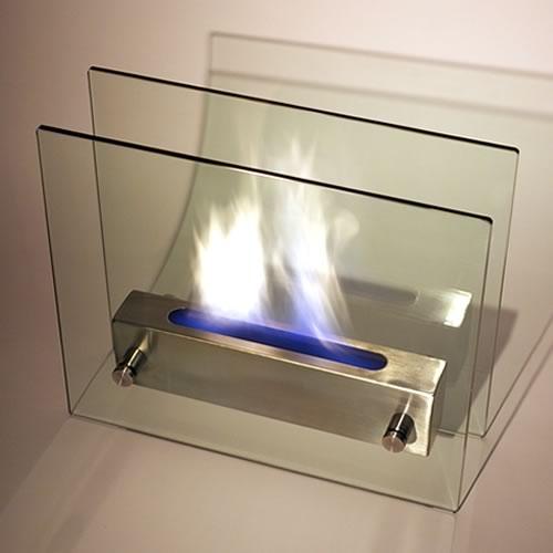 Irradia Noir Tabletop Fireplaces - Black