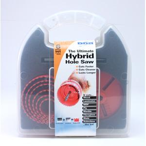 BO20001 Nest of 6 Hybrid Hole Saws