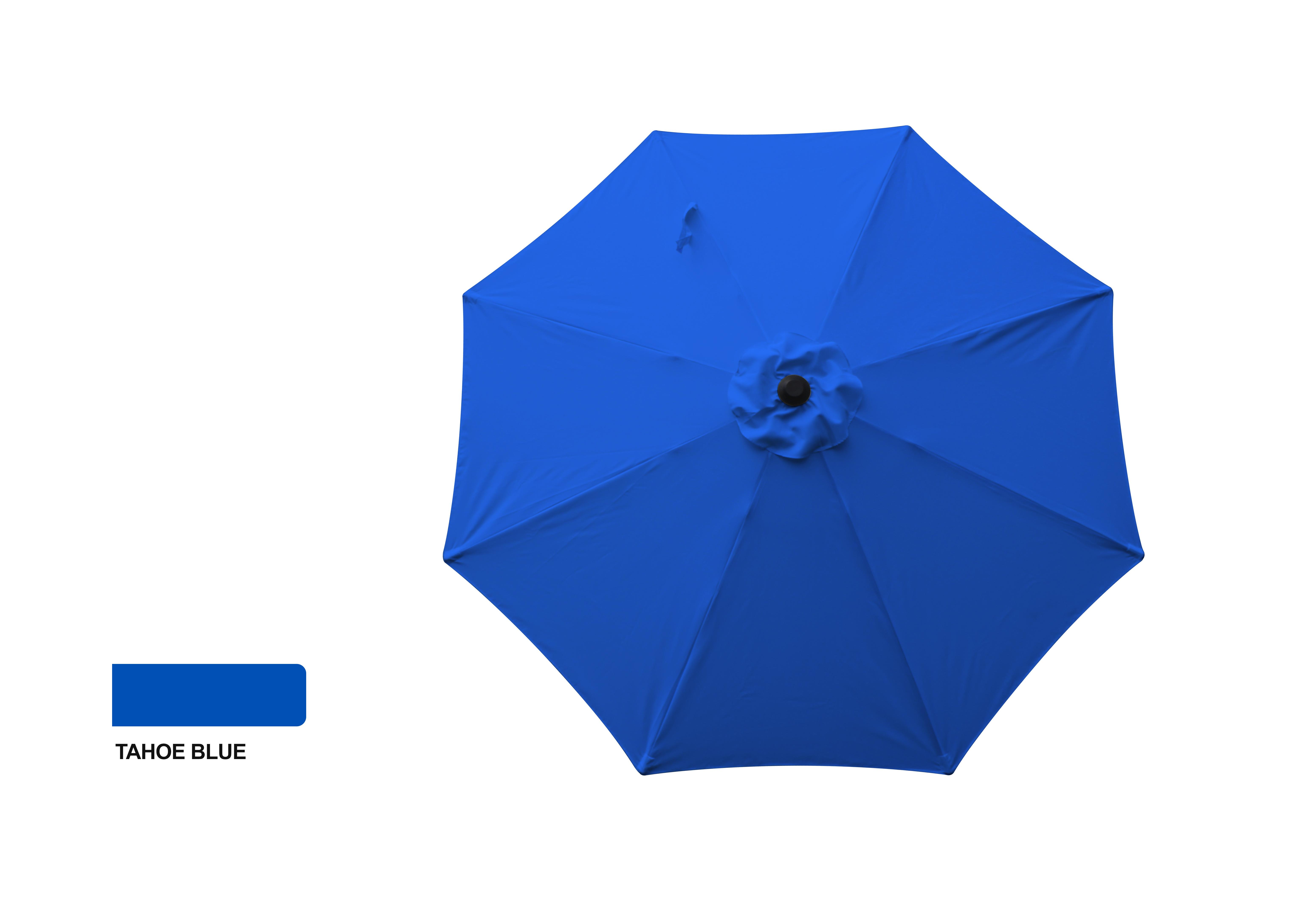 9' Aluminum Market Umbrella - Tahoe Blue