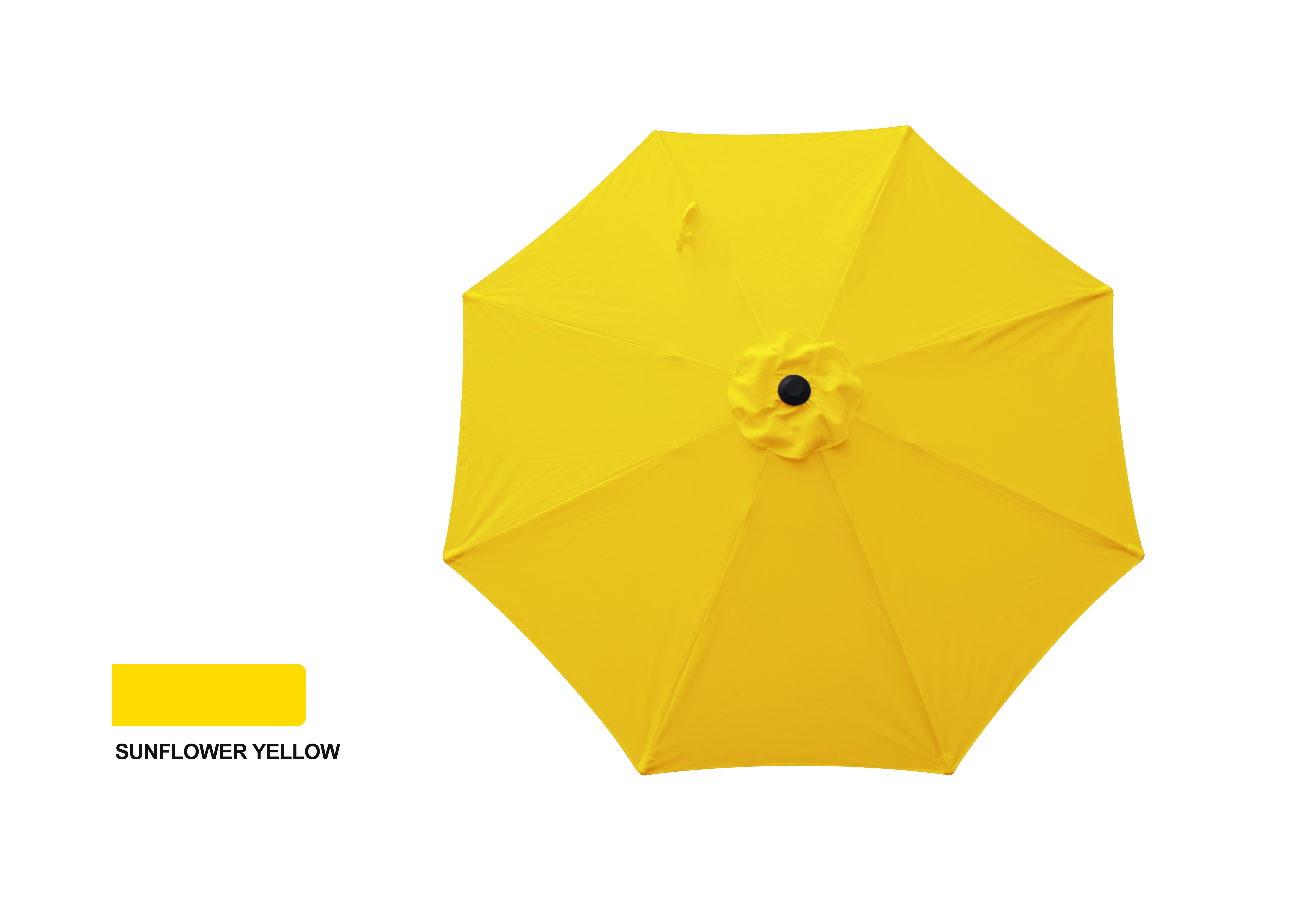 9' Aluminum Market Umbrella- Sunflower Yellow