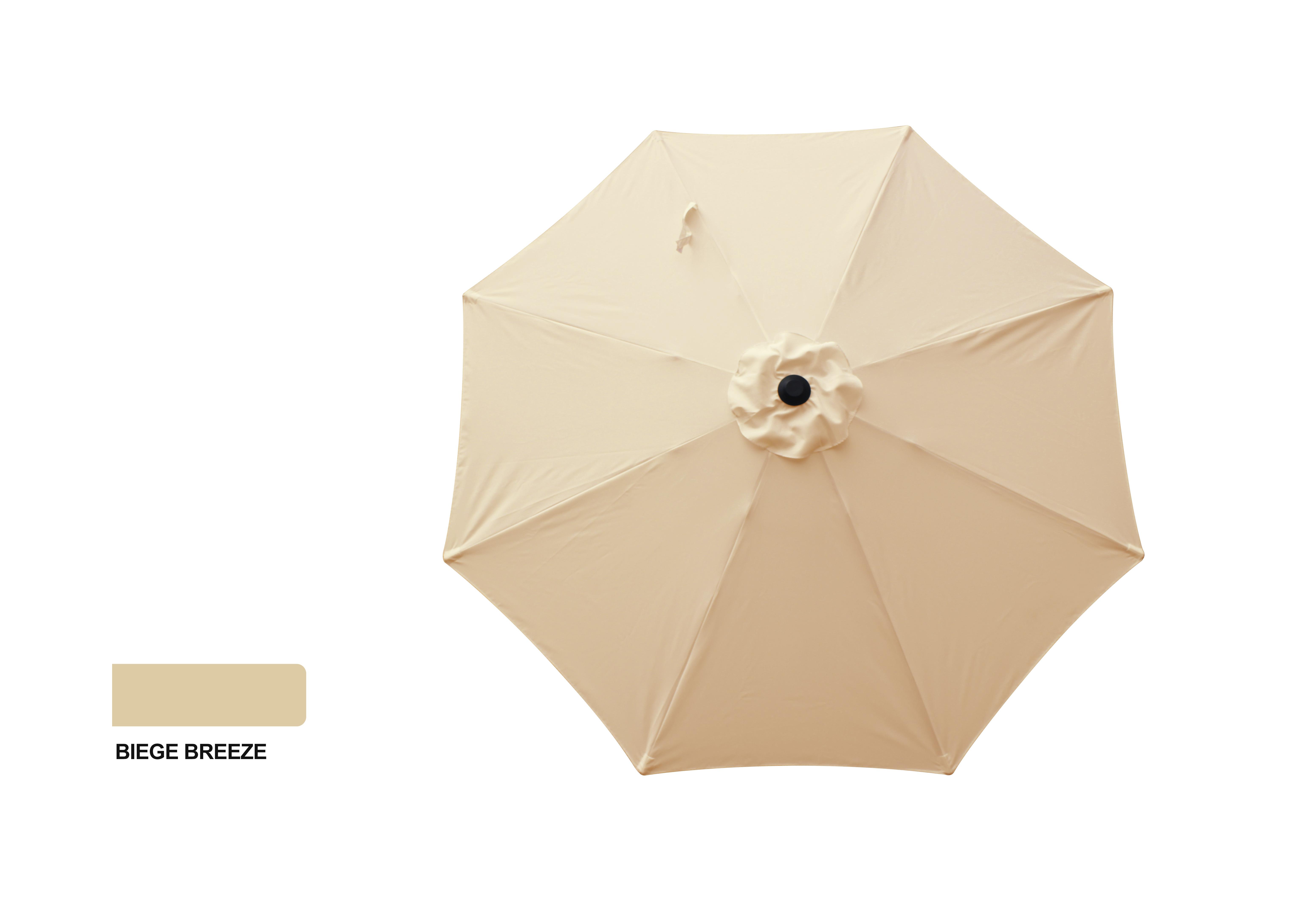 9' Aluminum Market Umbrella - Beige Breeze