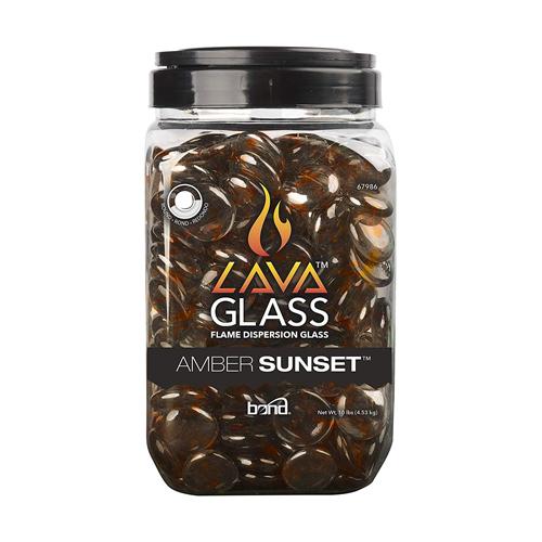 LavaGlass - Round -  AMBER SUNSET