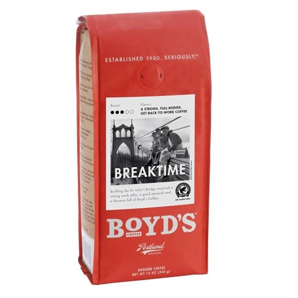 Boyds Coffee Ground Coffee Breaktime (6x12 OZ)