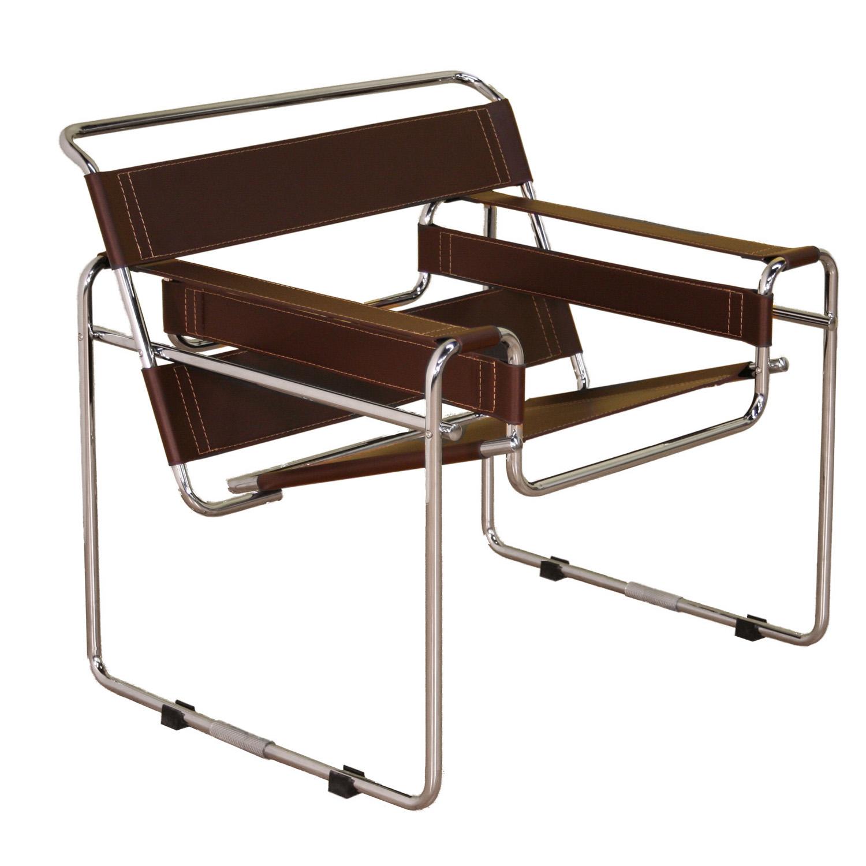 Baxton Studio Jericho Black Leather Mid-Century Modern Accent Chair