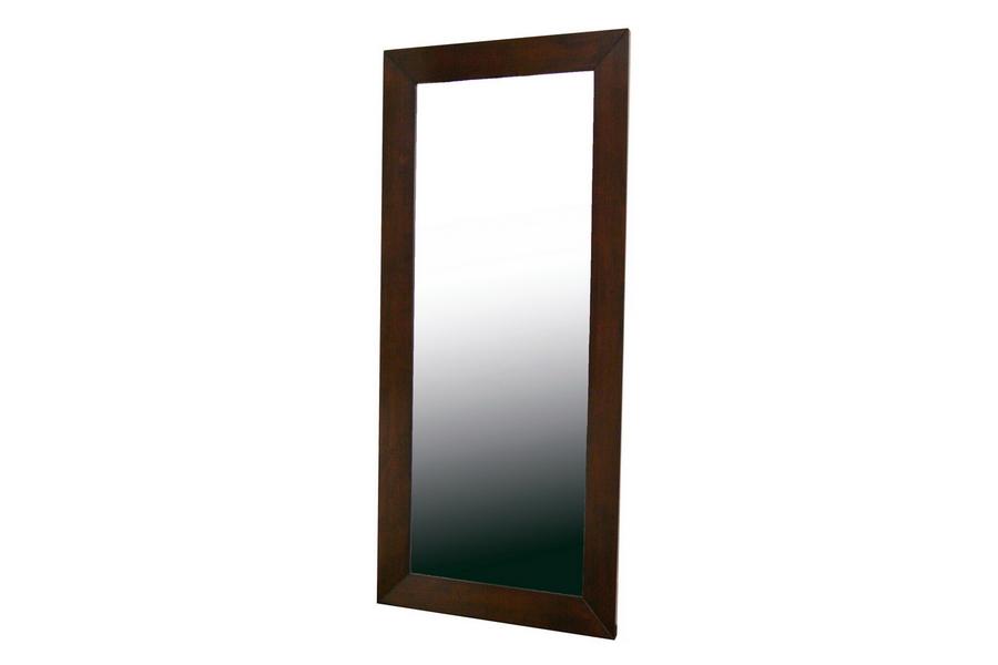 Baxton Studio Doniea Dark Brown Wood Frame Modern Mirror - Rectangle