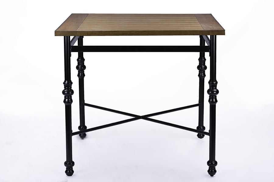 Baxton Studio Broxburn Wood & Metal Industrial Pub Table