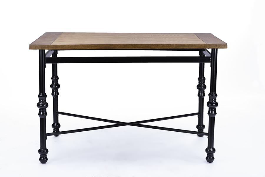 Baxton Studio Broxburn Wood & Metal Industrial Dining Table