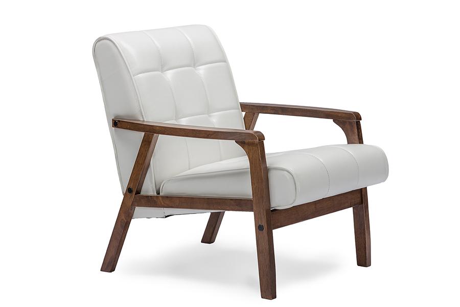 Baxton Studio Baxton Studio Mid-Century Masterpieces Club Chair - White