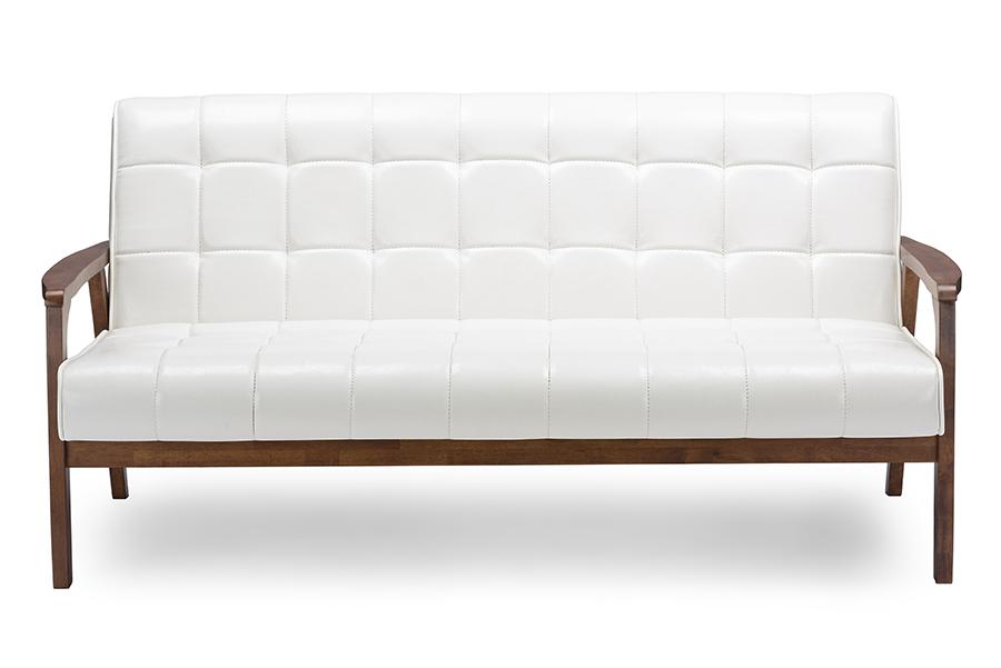 Baxton Studio Baxton Studio Mid-Century Masterpieces Sofa - White