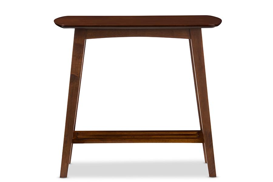 Baxton Studio Sacramento Mid-century Modern Scandinavian Style Dark Walnut Console Table