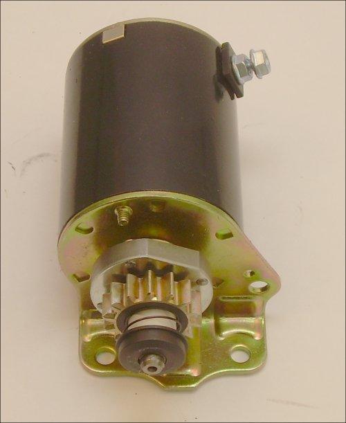 Briggs-Stratton Engine Parts 12 volt starter has steel gear with 14 teeth  fits some Briggs single cylinder  see list below