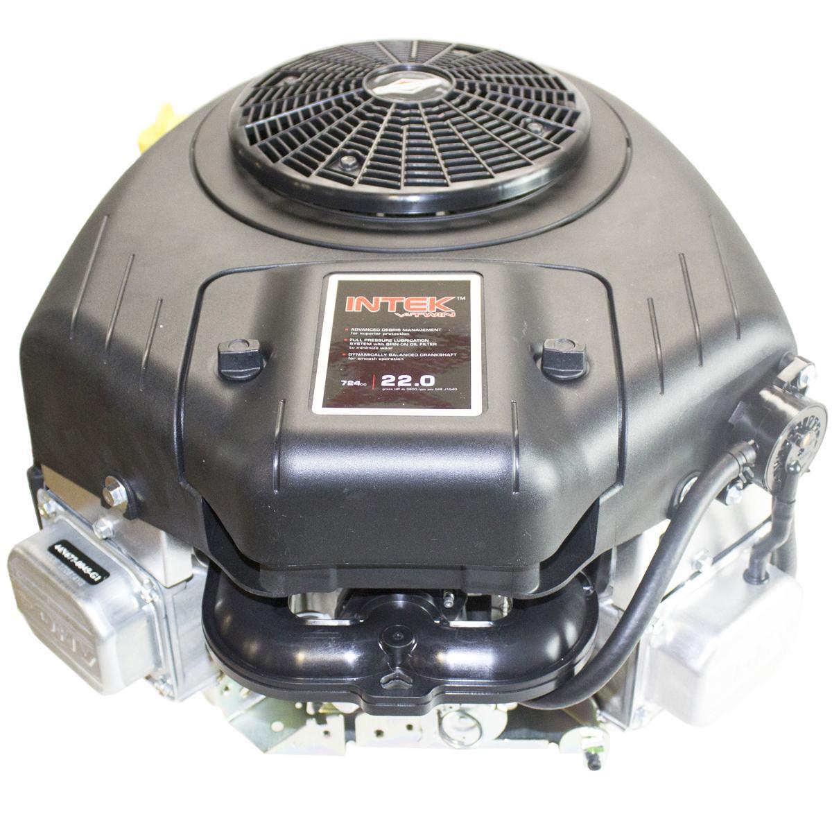 "22hp Briggs & Stratton Intek Engine, Vertical 1""x3-5/32"" Keyed Shaft, Fuel Pump, 9 Amp Alternator, Electric Start, Choke-a-matic"