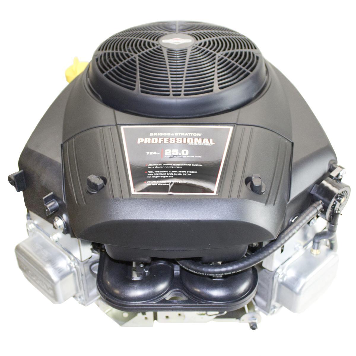 "25hp Professional Vertical 1-1/8""x4-5/16"" Keyed Shaft, Fuel Pump, Electric Start, 16 Amp Alt, Briggs & Stratton Engine"