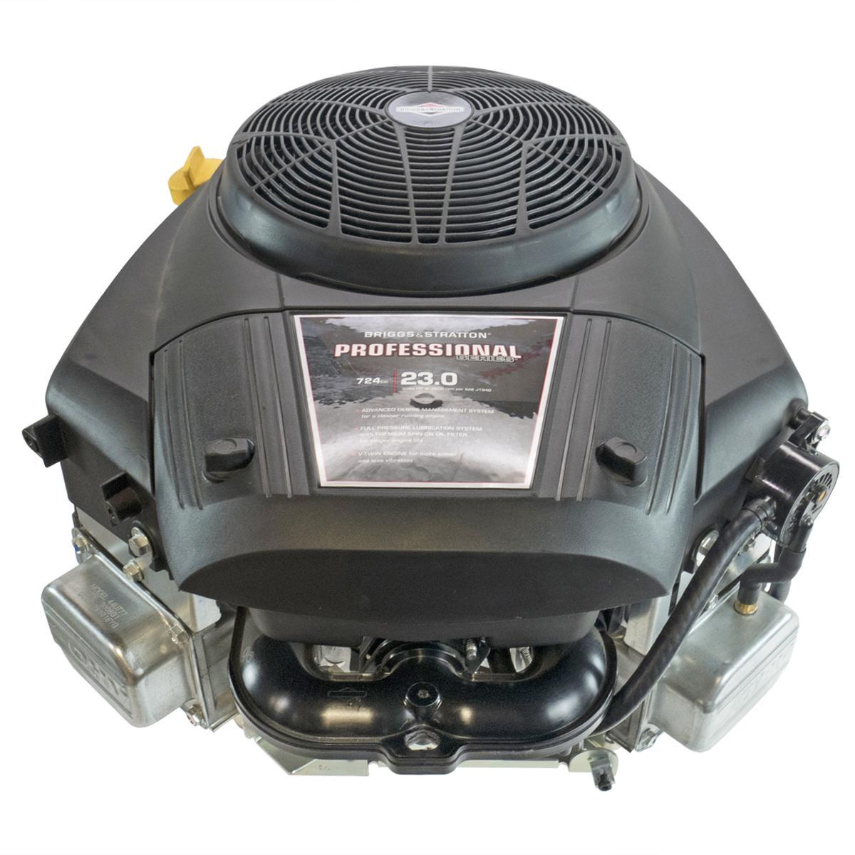 "23hp Professional Vertical 1-1/8""x4-5/16"" Keyed Shaft, Fuel Pump, 16 Amp Alternator, Electric Start, Briggs & Stratton Engine"