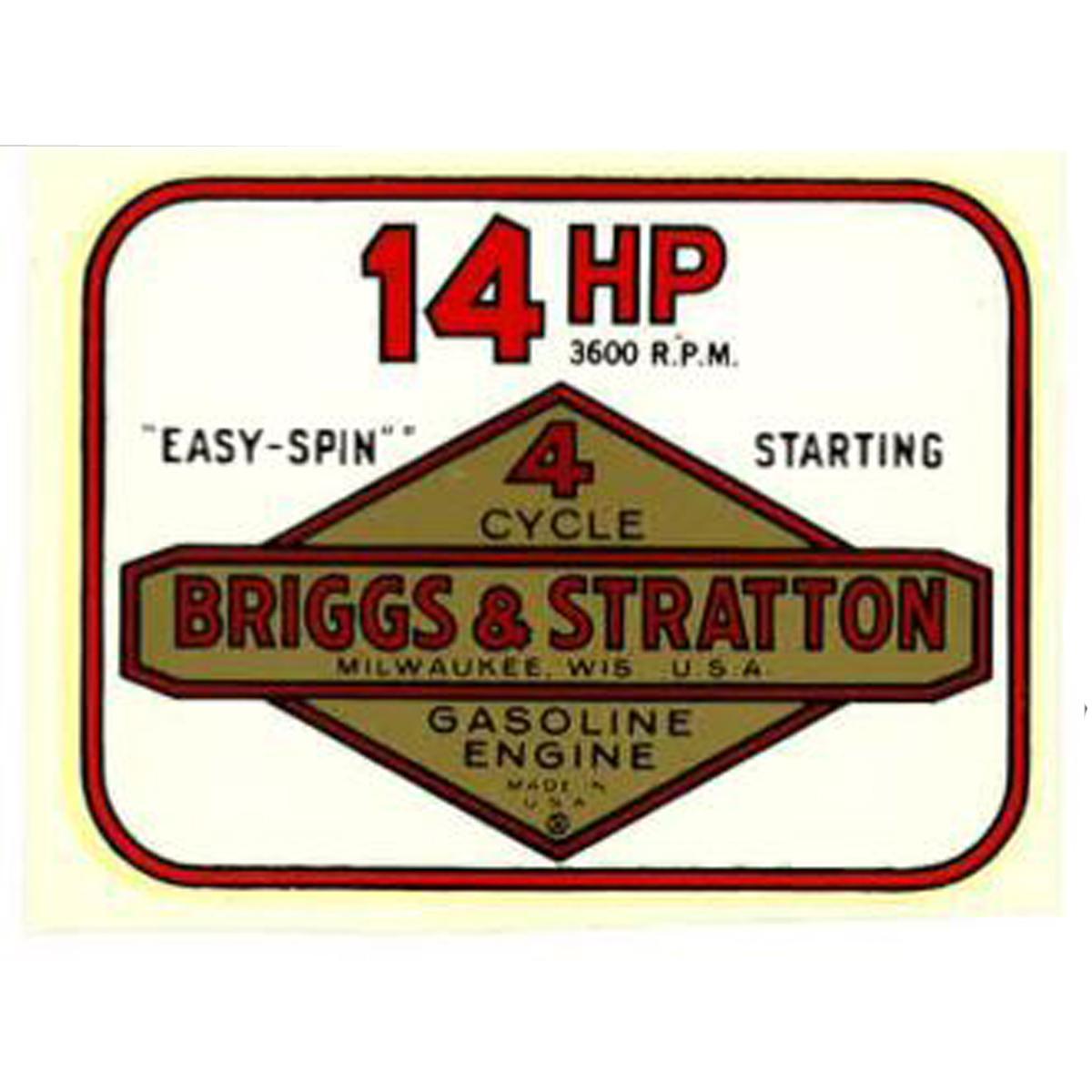 14 HP vintage water slide decal