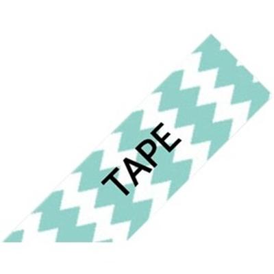 Black on Mint Chevron Tape