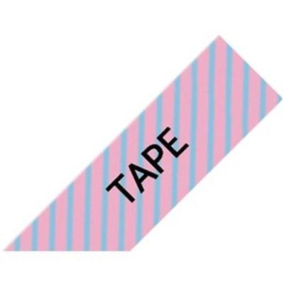 Black on Pink Diagonal Tape