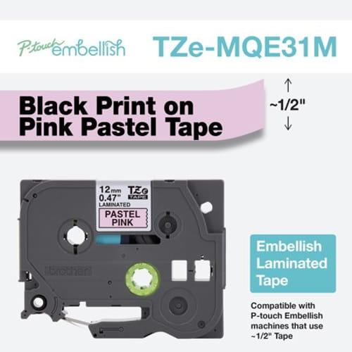 Black on Pastel Pink Tape