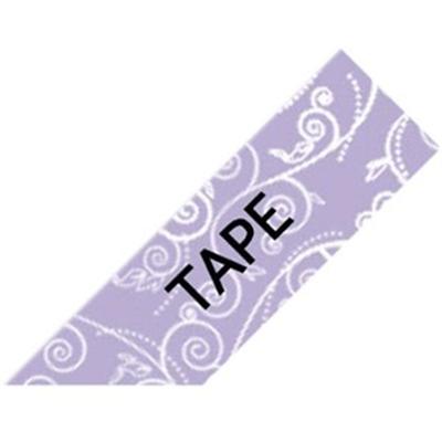 Black on Purple Floral Tape
