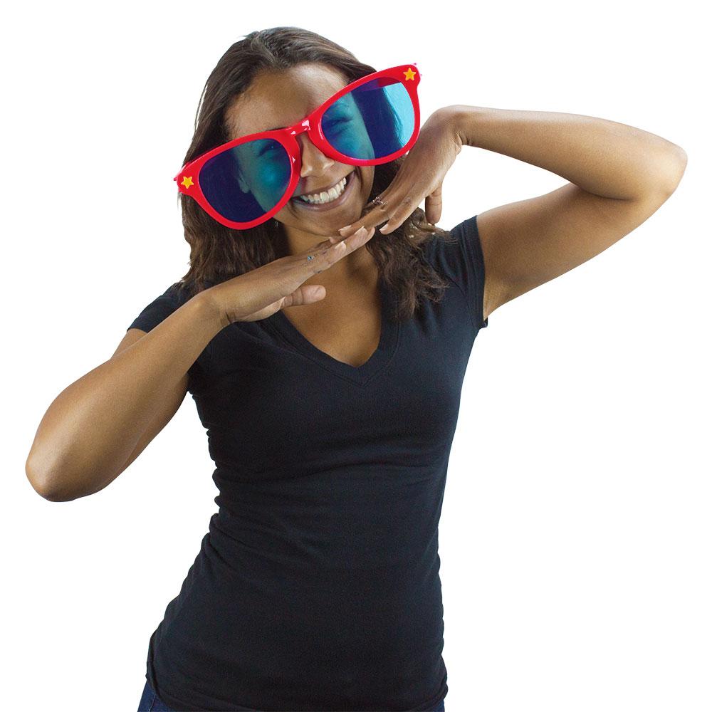 Jumbo Sunglasses - Red