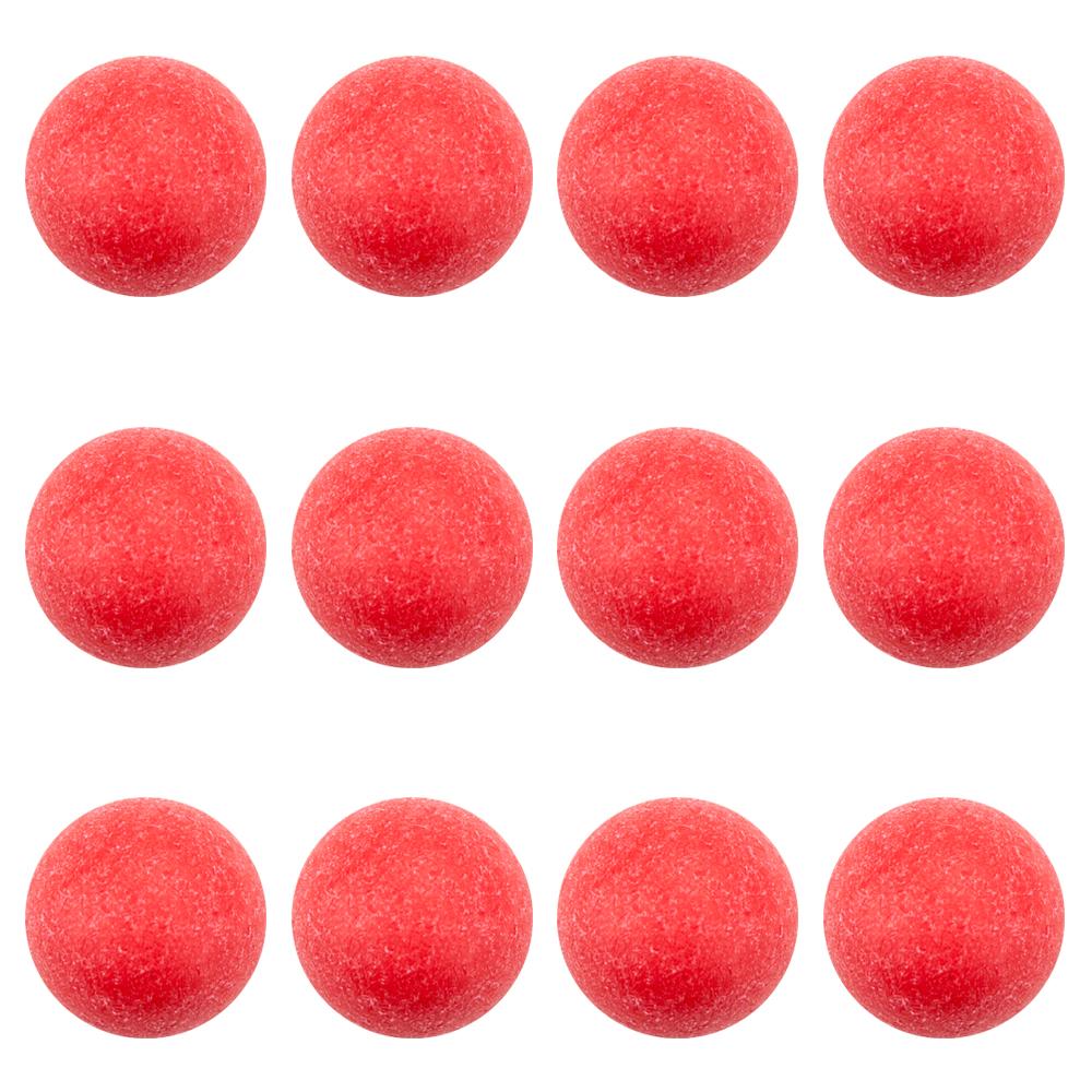 Pack of 12 Red Textured Foosballs