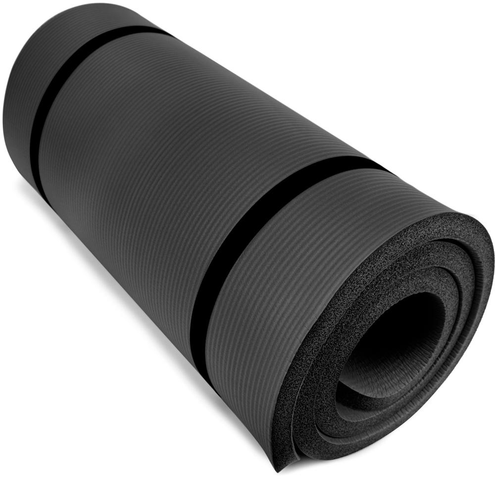 "Ultra Thick 1"" Yoga Cloud, Black"