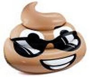 5.5-foot Dreamy Deuce Poop Emoji Pool Float