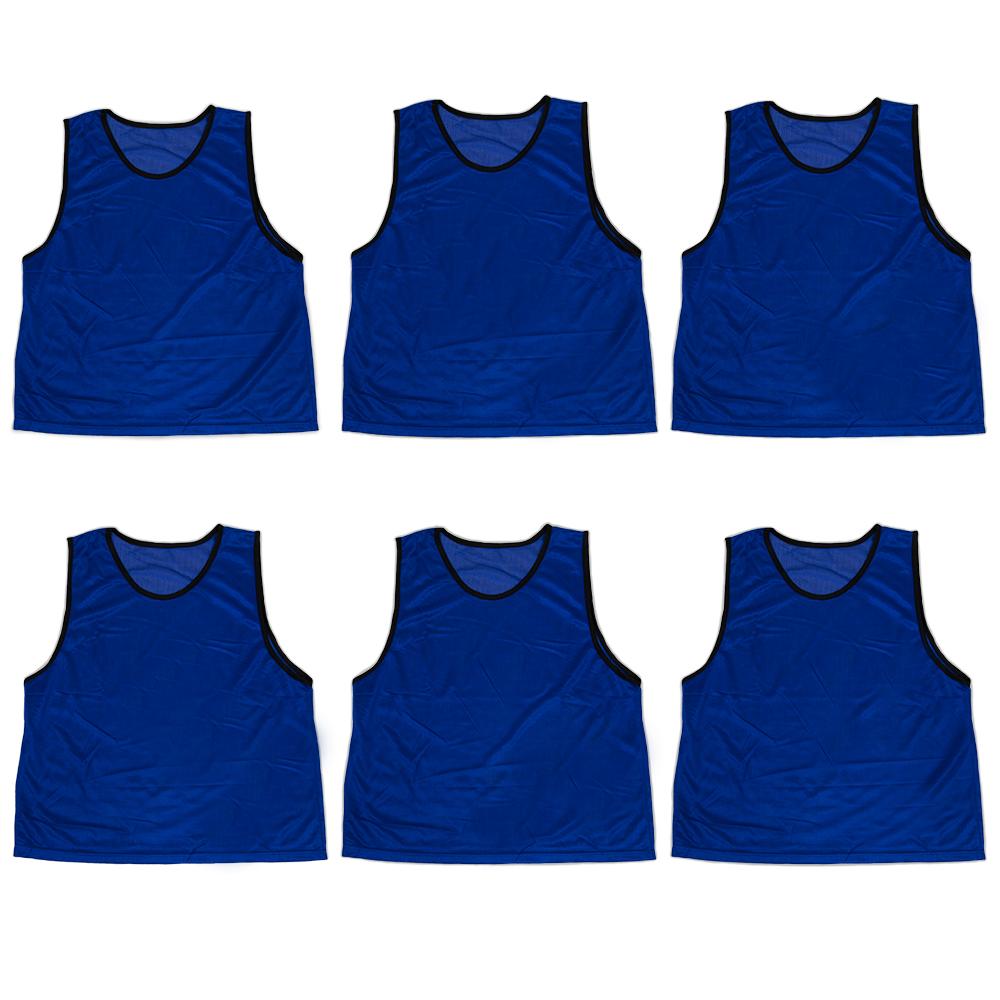 6-pack Adult Scrimmage Pinnies, Dark Blue