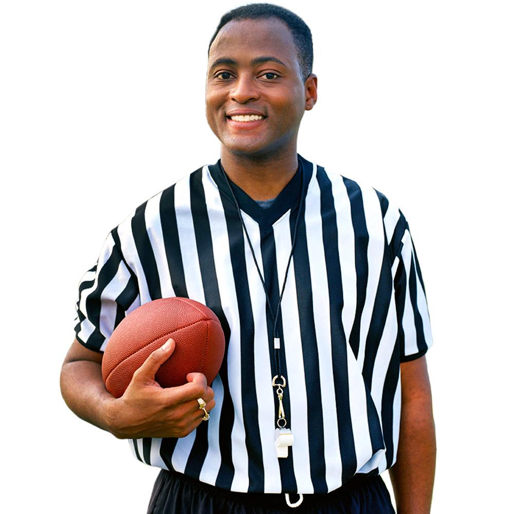 Men's V-neck Referee Jersey, large