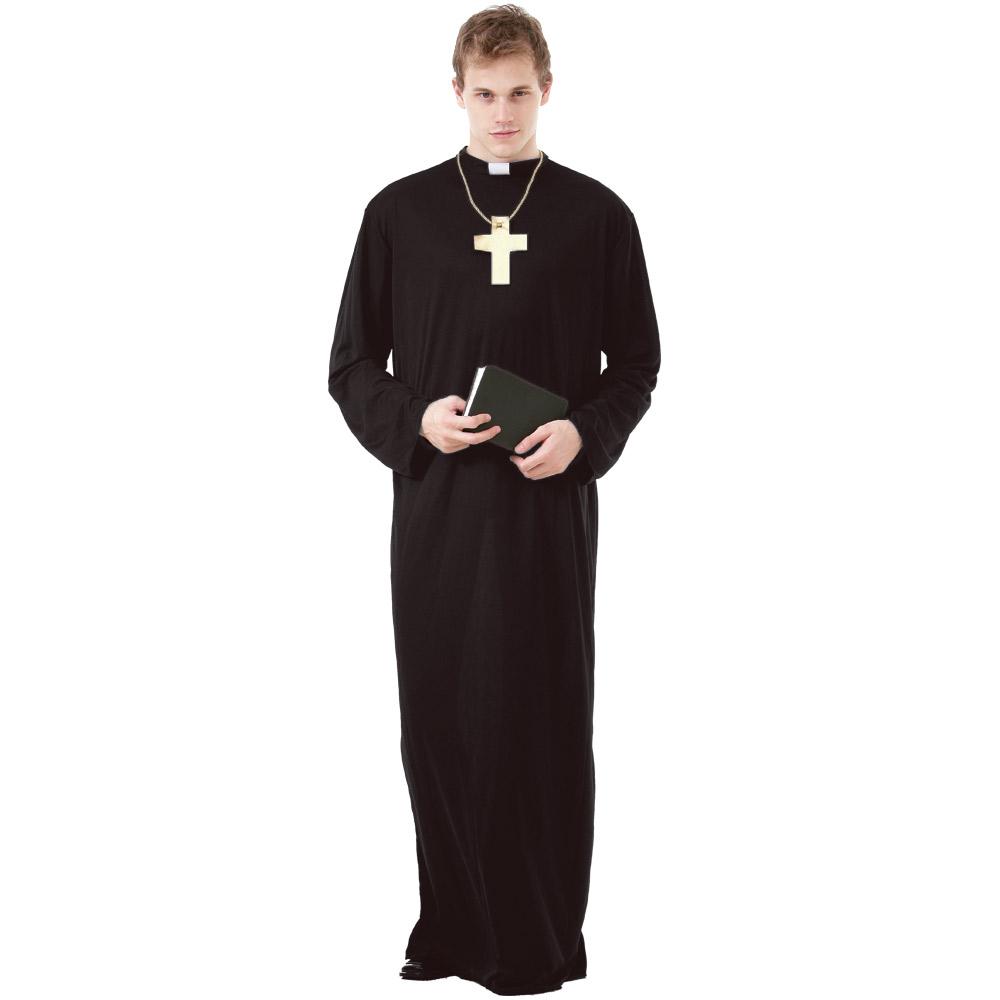 Prayerful Priest Adult Costume, XL