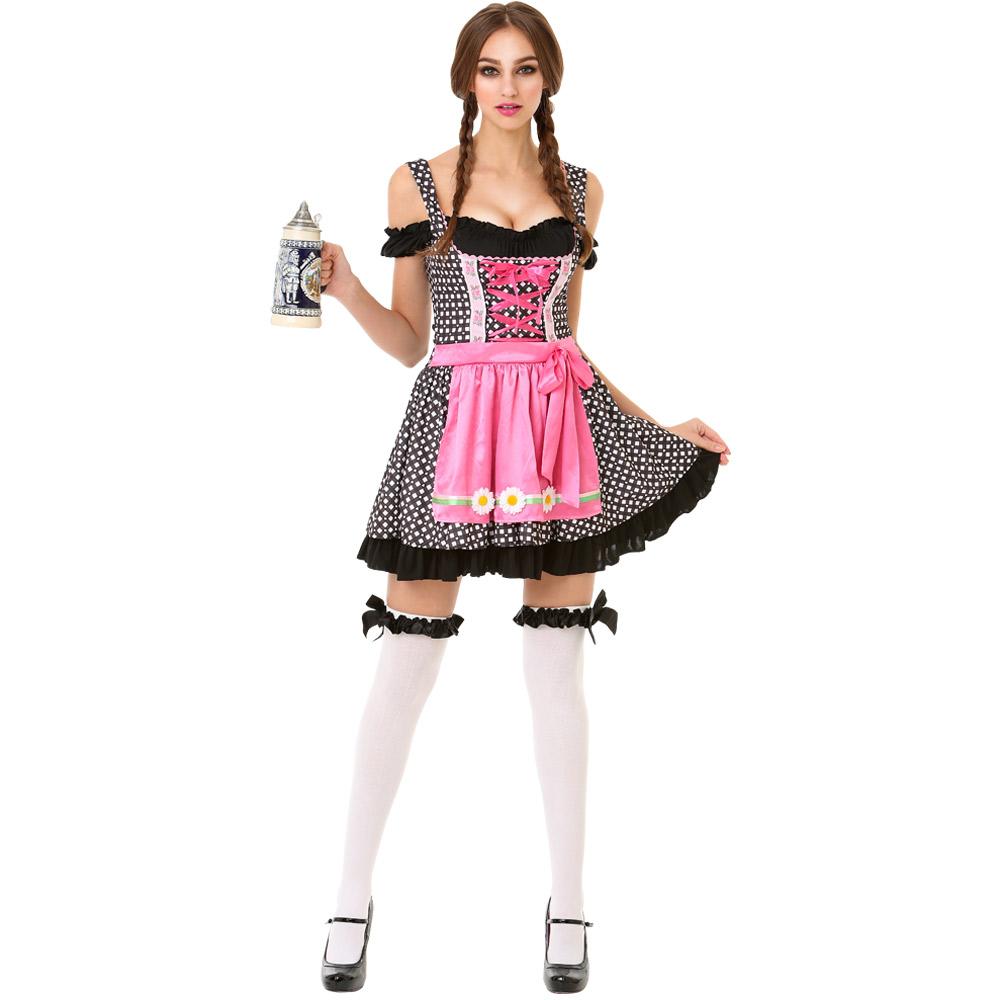 Oktoberfest Beer Maid Adult Costume, S