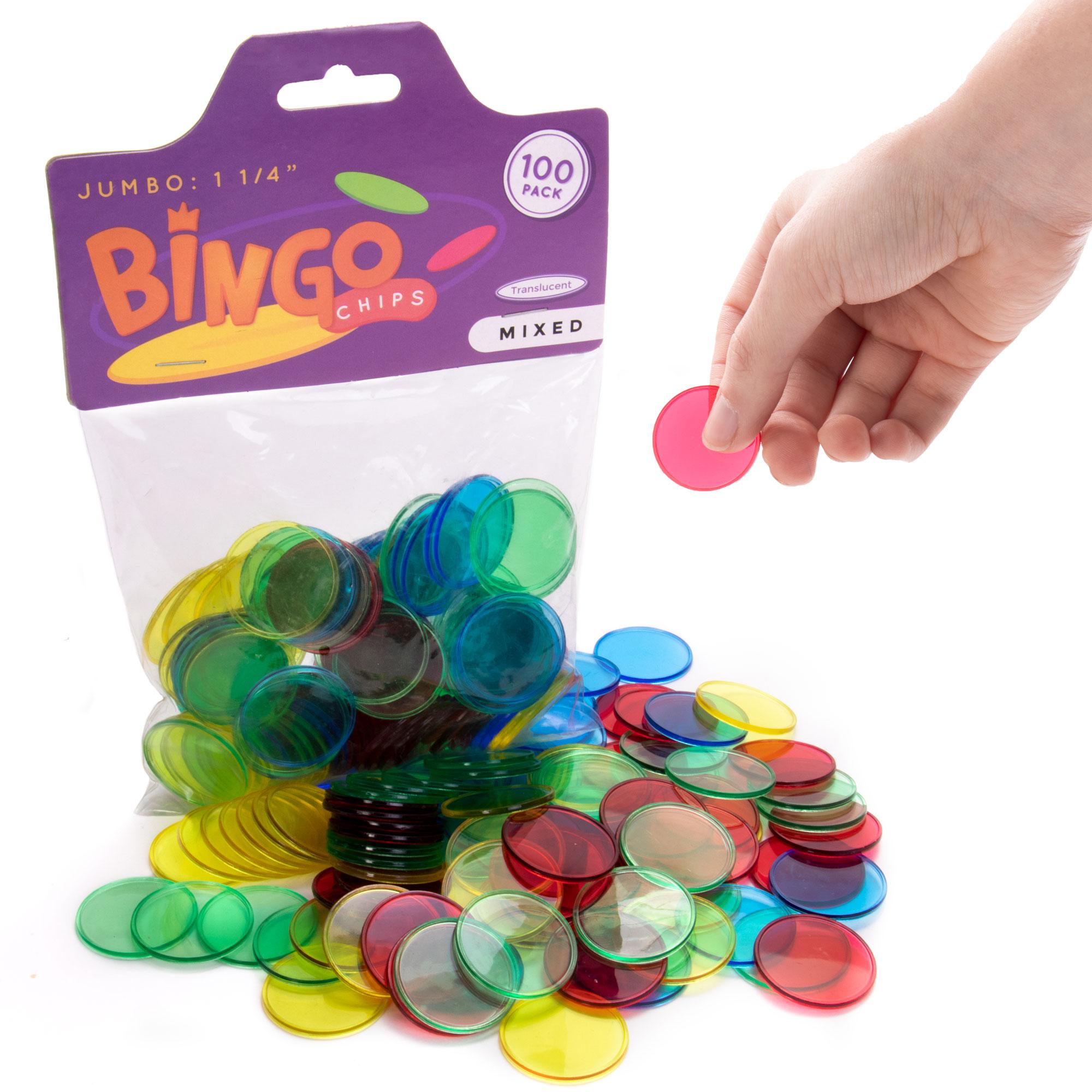 """Jumbo 1.25"""" Bingo Chips, 100-pack"""