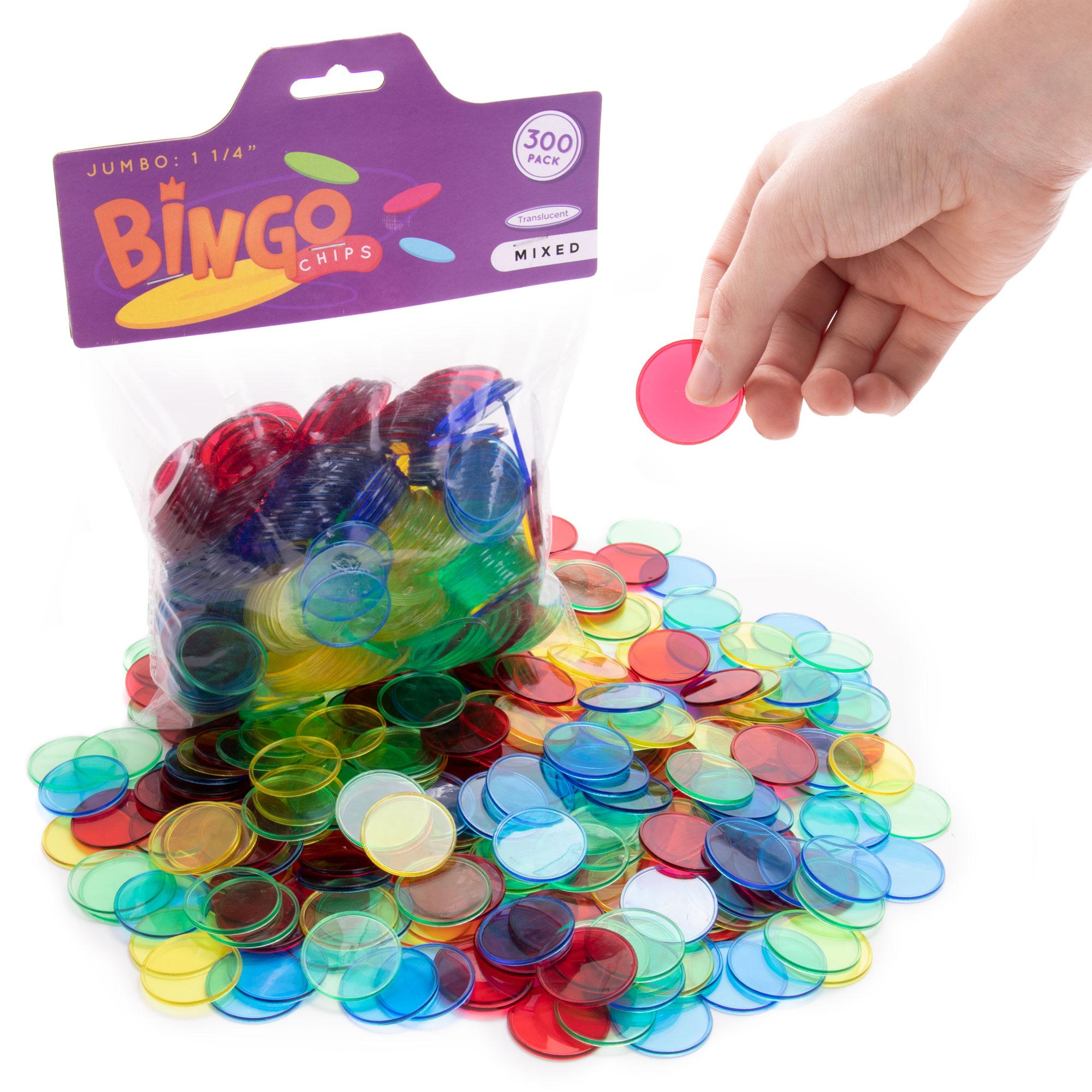 """Jumbo 1.25"""" Bingo Chips, 300-pack"""