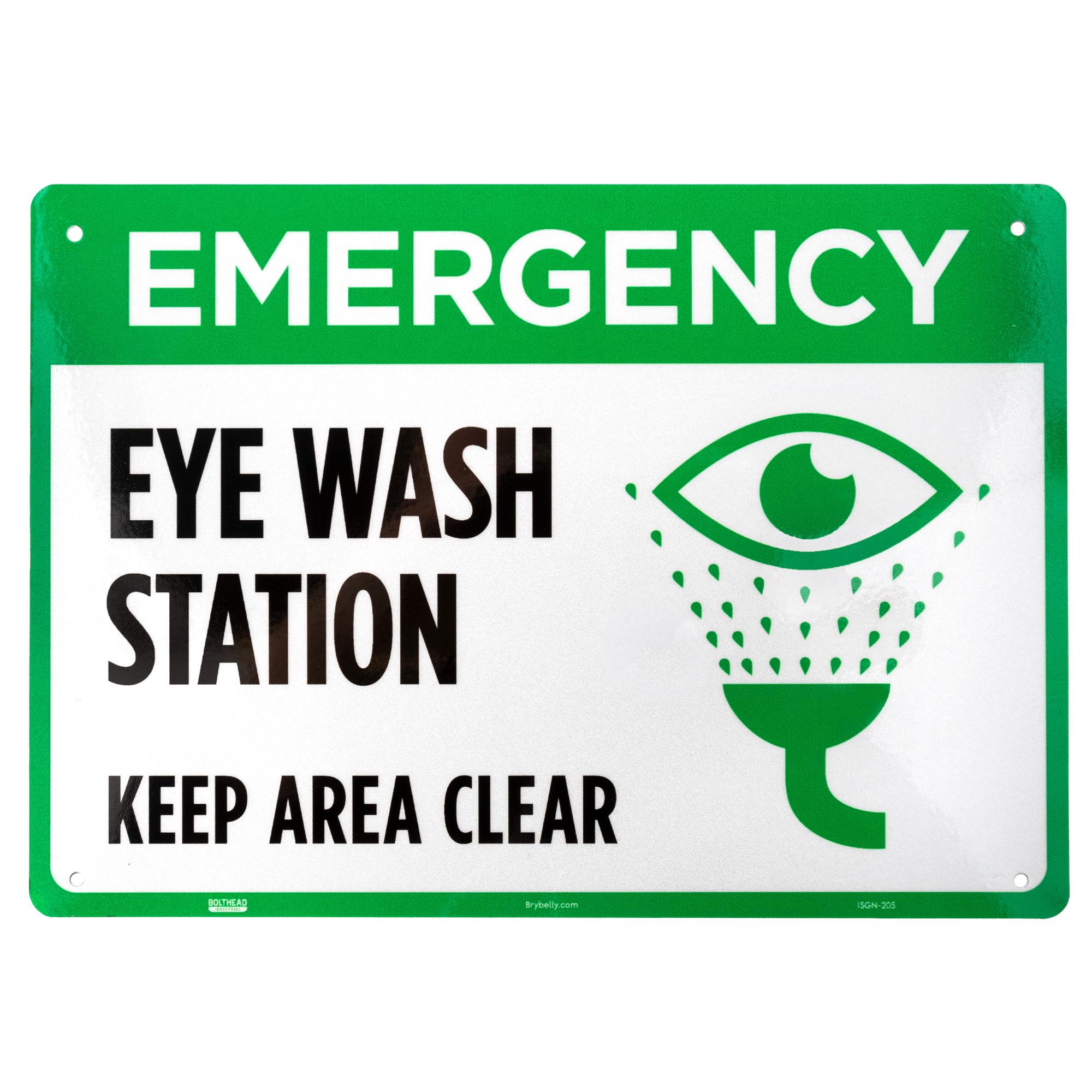Emergency Eye Wash Station Aluminum Sign