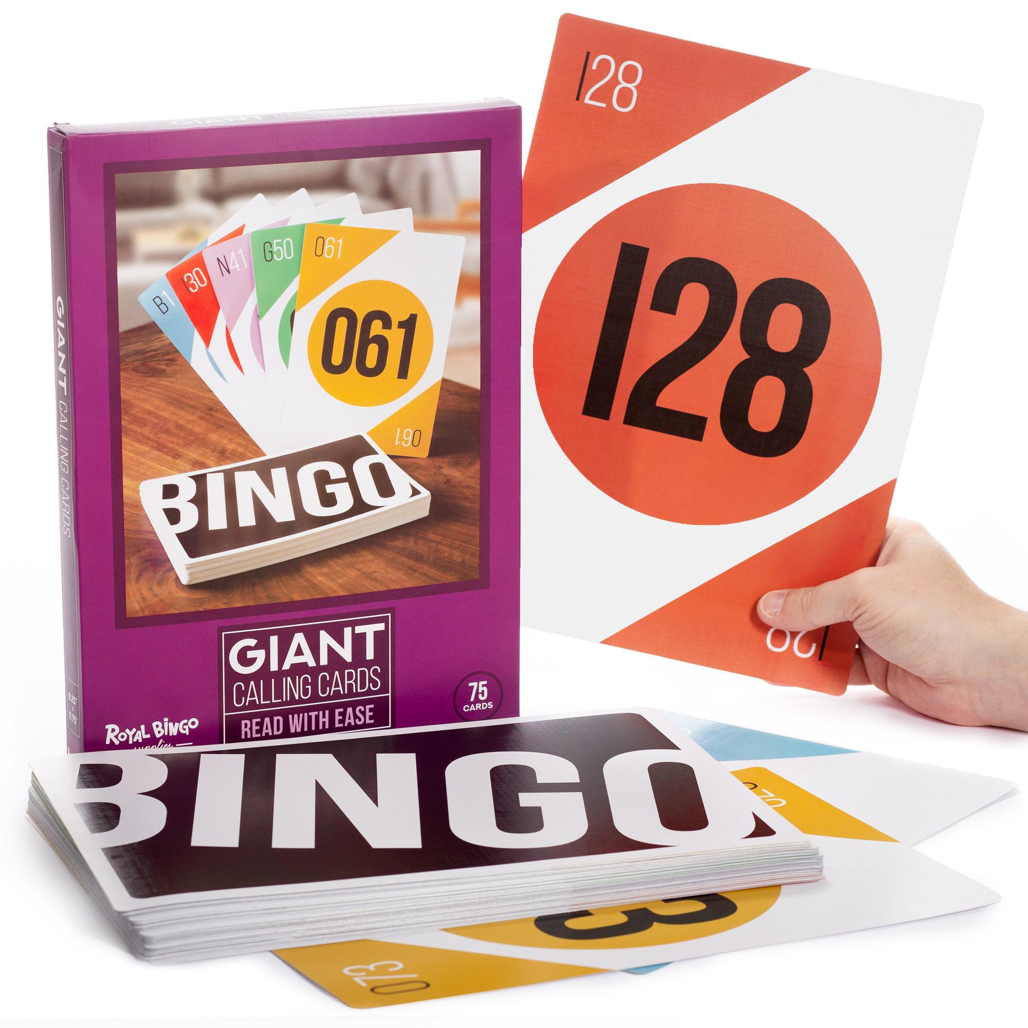 "Giant Bingo Calling Cards, 8.25"" x 11.75"""