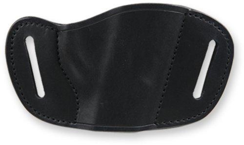Bulldog Black Molded Leather Belt Slide Holster Small