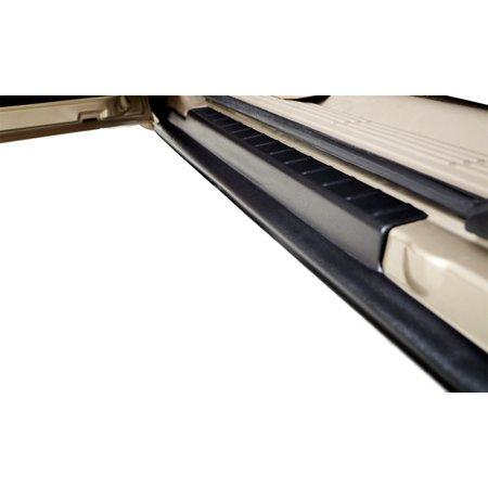 07-13 SILVERADO 1500 EXTENDED CAB ROCKER PANEL & SILL PLATE COVER BLACK