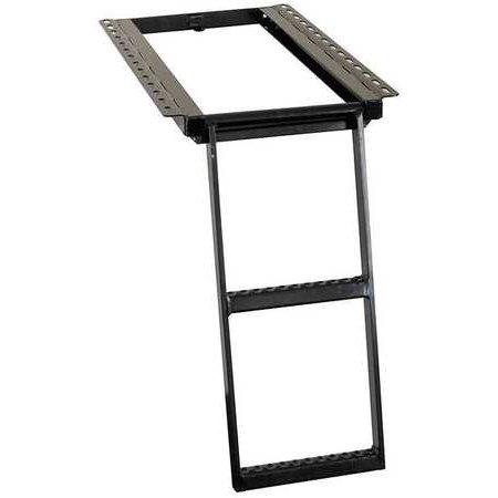 TRUCK STEP,RETRACTABLE LADDER,2-RUNG,